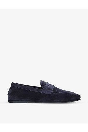 Tod's Gomma suede penny loafers