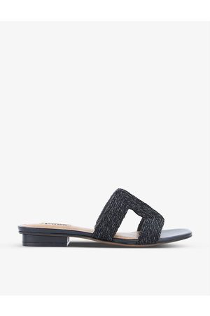 Dune Loupe cut-out woven sandals