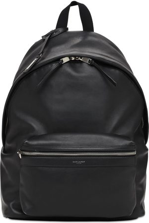 Saint Laurent Men Rucksacks - Logo Leather City Backpack