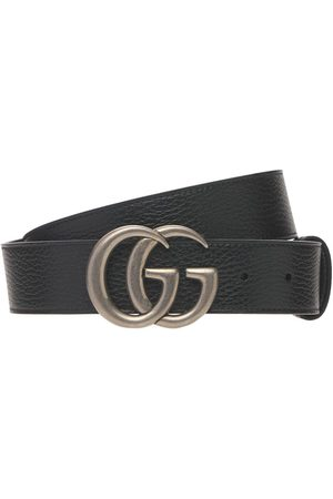 Gucci Men Belts - 4cm Gg Marmont Reversible Wide Belt