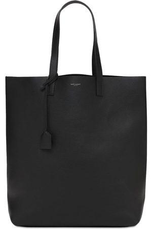 Saint Laurent Logo Leather Shopping Bag