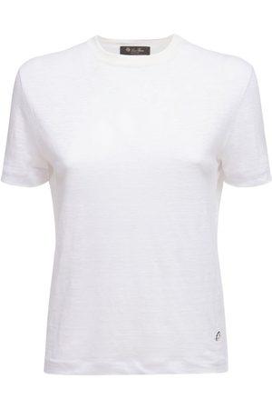 Loro Piana Women T-shirts - Linen Jersey Roundneck T-shirt