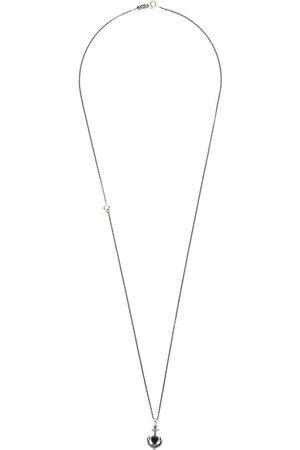 Ugo Cacciatori Heart and anchor necklace - Metallic