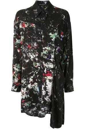 YOHJI YAMAMOTO Abstract-print asymmetric shirt