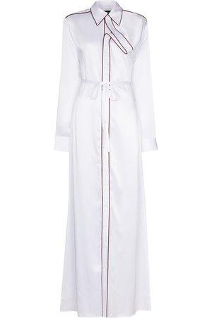 Y/Project Women Casual Dresses - Asymmetric placket maxi shirt dress