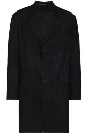 Yohji Yamamoto Graphic-print longline shirt jacket