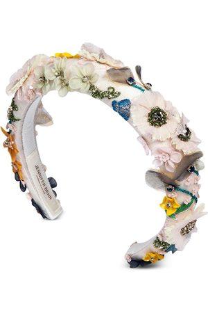 Jennifer Behr Women Headbands - Meadow floral-appliqué headband