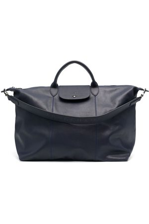 Longchamp Le Pliage Cuir lambskin travel bag