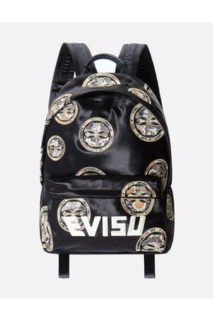 Evisu Brocade Kamon Appliqué and Logo Embroidered Backpack