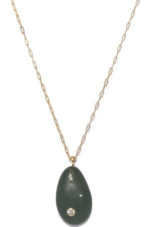 CVC STONES Pistachio Diamond & 18kt Gold Necklace - Womens