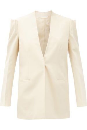 Givenchy Single-breasted Wool-crepe Jacket - Womens - Cream