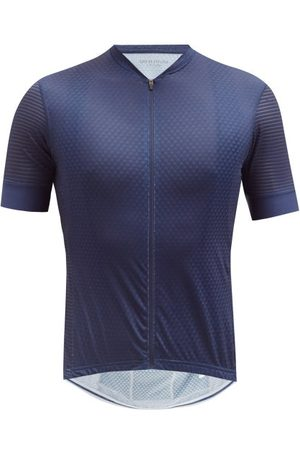 Cafe du Cycliste Men Sports Tops - Micheline Mesh-jersey Cycling Top - Mens - Navy