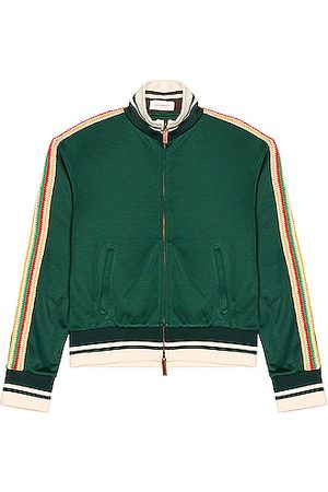 WALES BONNER Clarendon Track Top in Emerald