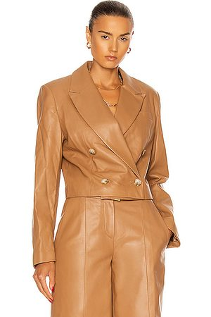 Loulou Studio Kadmat Leather Blazer in Caramel