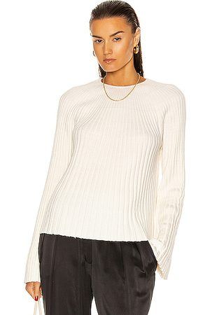 Loulou Studio Hairan Knit Top in Ivory