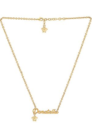 VERSACE Nameplate Necklace in