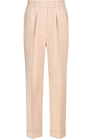 Brunello Cucinelli Pleated stretch-cotton sweatpants
