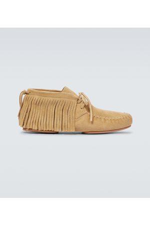 Loewe Paula's Ibiza suede moccasin boots