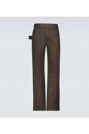 Bottega Veneta Losange quilted leather pants