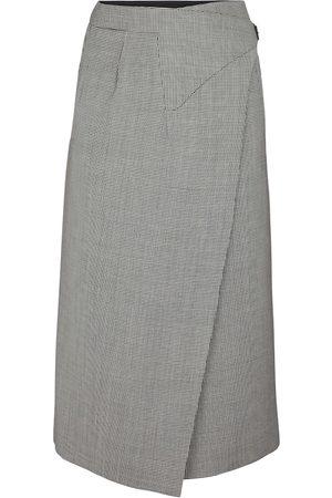 WARDROBE.NYC Houndstooth wool midi skirt