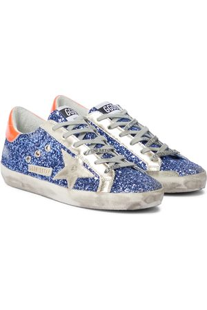 Golden Goose Superstar glitter and leather sneakers
