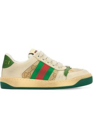 Gucci Girls Trainers - Gg Canvas Sneakers W/ Web Detail