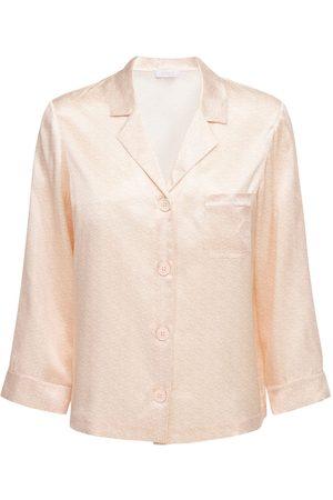 ERES Lettre Embleme Silk Pajama Shirt
