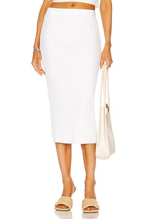 ENZA COSTA Rib Sweater Knit Pencil Skirt in