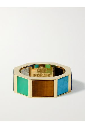 LUIS MORAIS Eternity 14-Karat Gold -Stone Ring