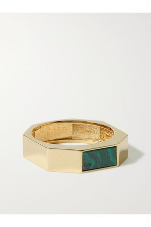 LUIS MORAIS 14-Karat Gold and Malachite Ring