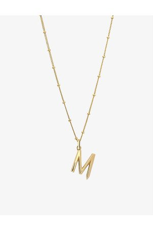 EDGE OF EMBER Women Necklaces - M initial 18ct yellow -plated vermeil recycled sterling-silver pendant necklace