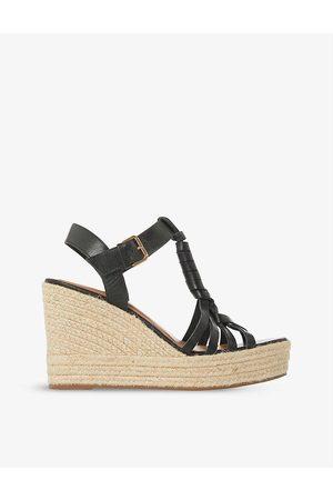 Dune Women Sandals - Kofu espadrille leather wedge sandals