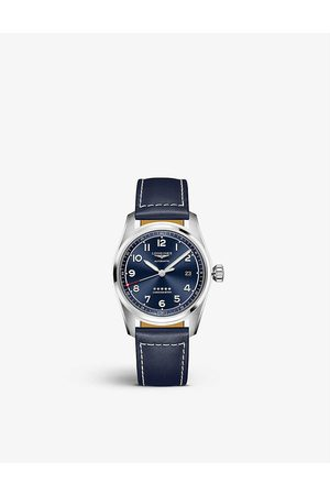 Longines Women Watches - L3.810.4.93.0 Spirit leather and stainless steel watch