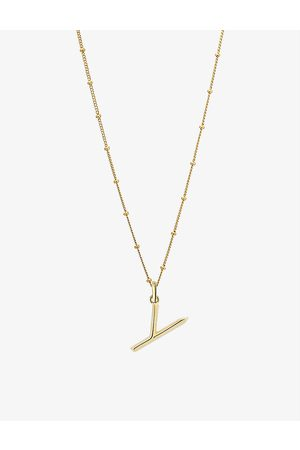 EDGE OF EMBER Women Necklaces - Y initial 18ct yellow- plated vermeil recycled sterling-silver pendant necklace