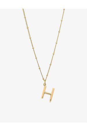 EDGE OF EMBER Women Necklaces - H initial 18ct yellow -plated vermeil recycled sterling-silver pendant necklace