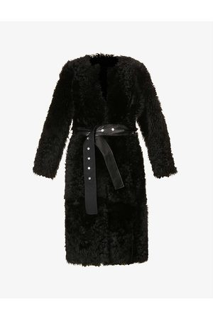 Saks Potts Katie belted leather and shearling coat