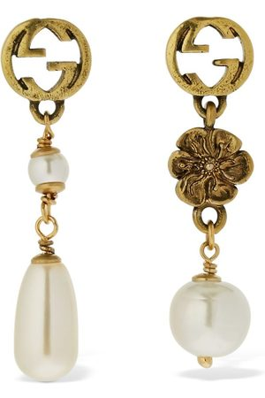 Gucci Gg Flower Imitation Pearl Earrings