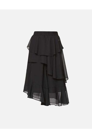 Evisu Asymmetric Layered Skirt