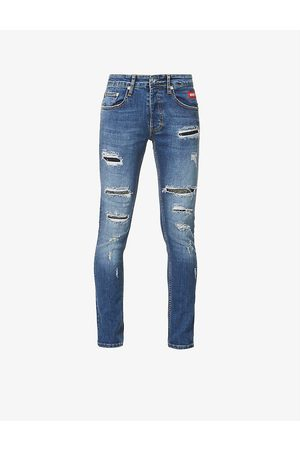 Inside OUT Denim Riri studded tapered jeans