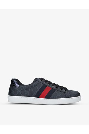 Gucci Men's New Ace GG-pattern canvas low-top trainers