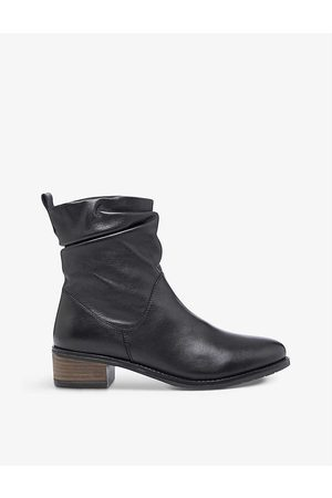 Dune Women Ankle Boots - Pagers block-heel leather ankle boots