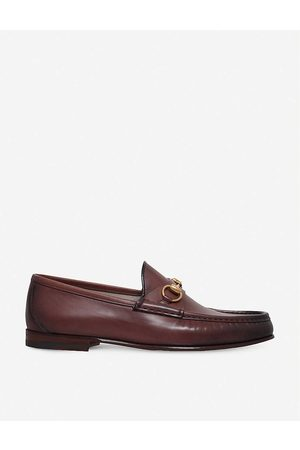 Gucci Men Loafers - Mens Roos Horsebit Leather Moccasins