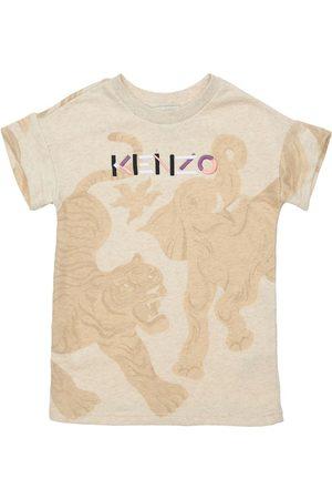 Kenzo Girls Printed Dresses - All Over Print Cotton Dress