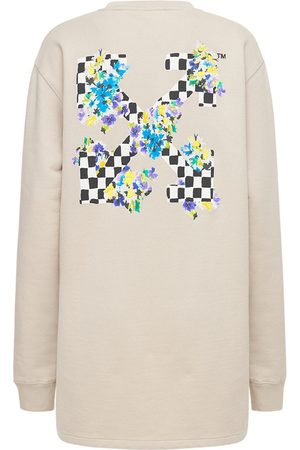 OFF-WHITE Women Casual Dresses - Printed Cotton Jersey Sweatdress