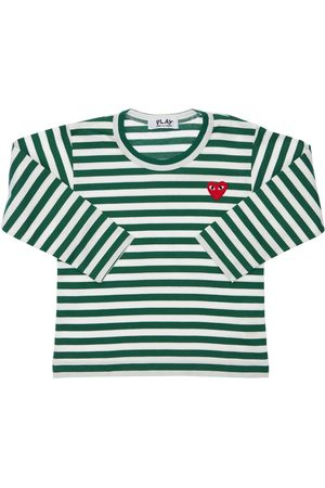 Comme des Garçons Boys T-shirts - Striped Cotton Jersey T-shirt