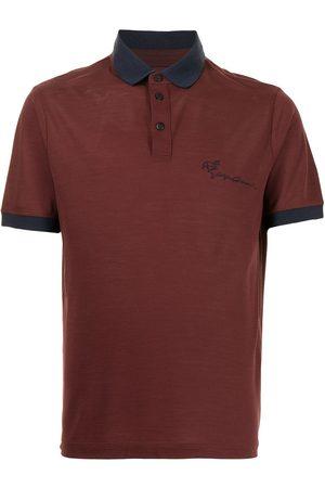 Armani Cursive logo polo shirt