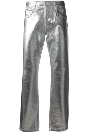 1017 ALYX 9SM Metallic crinkled slim-fit jeans