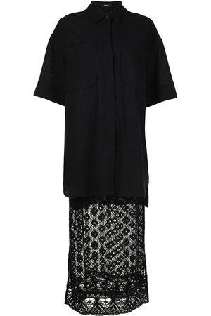 GOEN.J Oversized crochet-lace skirt set