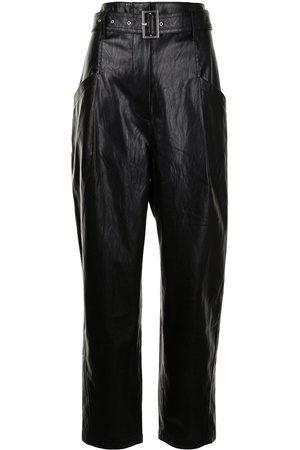 Goen.J Straight-leg faux-leather trousers