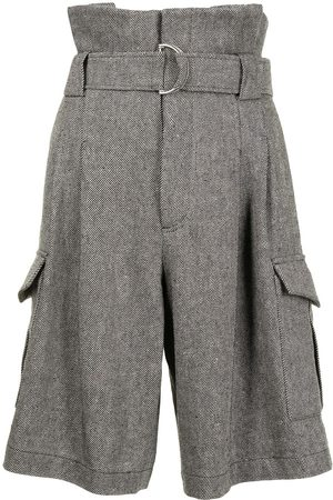 GOEN.J Belted paperbag-waist bermuda shorts